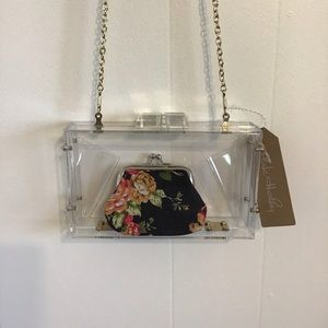 Clear Acrylic crossbody with coin purse NWT